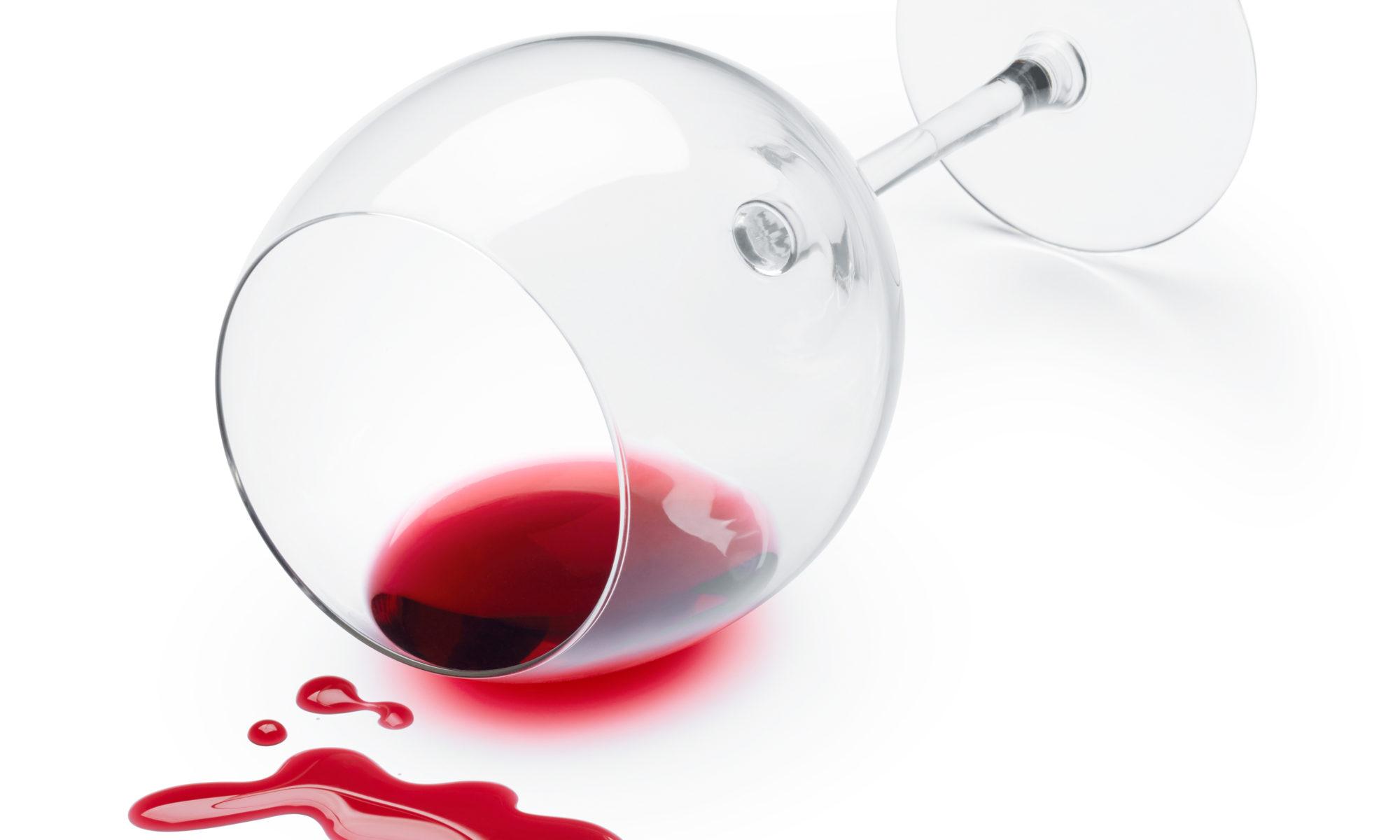 Tâche de vin rouge